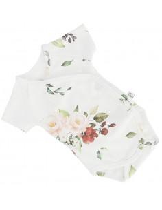 Body niemowlęce z krótkim rękawem z bawełny organicznej Vintage Roses 56/ 62cm, Yosoy