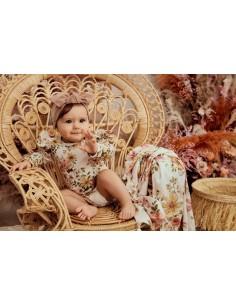 Body niemowlęce z falbanką Vintage Bloom 68/74, Samiboo