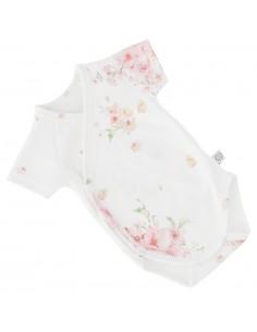 Body niemowlęce z krótkim rękawem z bawełny organicznej Japanese Flowers 68/ 74cm, Yosoy
