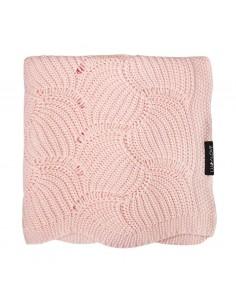 Kocyk całoroczny muszelka różowy kwarc 80x100 cm, Lullalove
