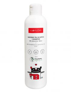 Łagodny żel do mycia i szampon dla niemowląt i dzieci 250 ml, Lullalove
