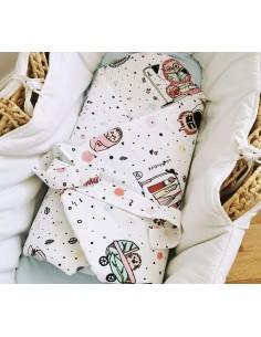 Rożek/ mata niemowlęca Jeż Różowy, Lullalove
