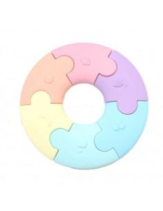 Pierwsze puzzle sensoryczne, pastelowe kółko, Jellystone Design