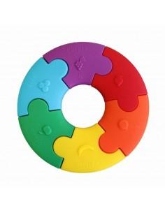 Pierwsze puzzle sensoryczne, tęczowe kółko +3 m-ce, Jellystone Design