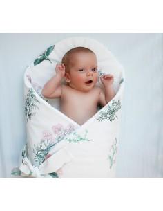 Rożek/ mata niemowlęca Zielnik Róż, Lullalove