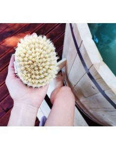 Ostra szczotka tampico do masażu na sucho, Lullalove