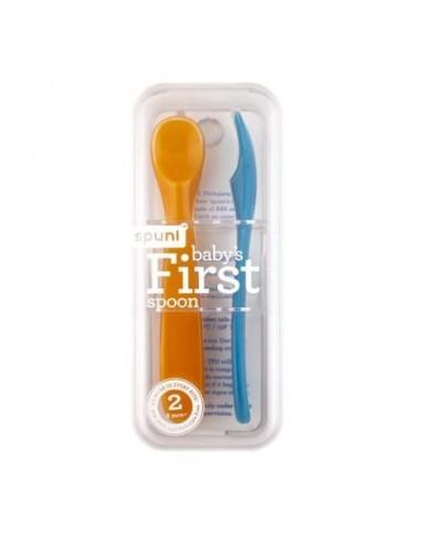 Łyżeczki do karmienia +8 m-cy Oops! Orange / Bouncing Blue, Spuni