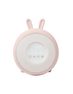 Lampka budząca światłem różowy królik, Rabbit and Friends