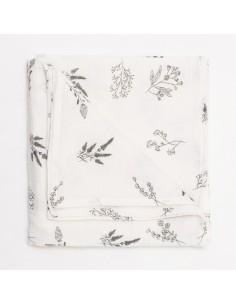 Otulacz muślinowy Botanical ecru 100x100cm, Bim Bla