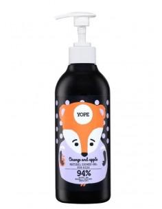 Żel pod prysznic dla dzieci Pomarańcza i Jabłko 400 ml, YOPE