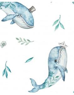 Pościel z wypełnieniem 100x135cm Wieloryby, Samiboo