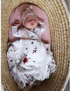Body niemowlęce z długim rękawem z bawełny organicznej Vintage Roses 62cm, Yosoy