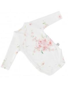 Body niemowlęce z długim rękawem z bawełny organicznej Japanese Flowers 62cm, Yosoy