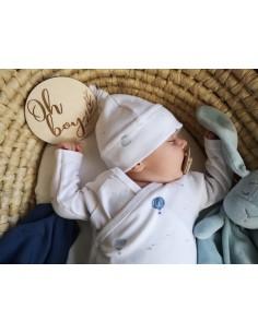 Body niemowlęce z długim rękawem z bawełny organicznej Balloons 62cm, Yosoy