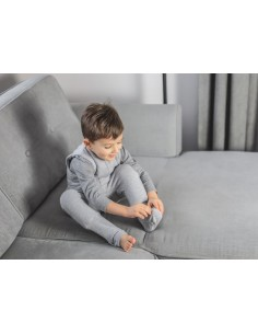 Dwustronny Śpiworek z Nóżkami Melanżowy Szary (3-4 lata), Sleepee
