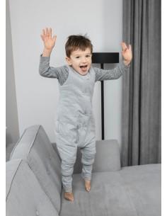 Dwustronny Śpiworek z Nóżkami Melanżowy Szary (1-2 lata), Sleepee