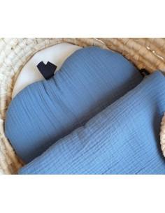 Poduszka muślinowa Apple Denim, Kalamati
