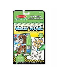 Kolorowanka wodna Water Wow! Zwierzakowe Labirynty +4 lata, Melissa and Doug