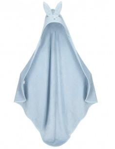 Ręcznik bambusowy z uszami niebieski 100x100 cm, Yosoy