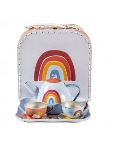 Zestaw metalowy Tea set Pure and Nature +3 lata, Little Dutch