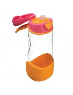 Sportowa butelka tritanowa z ustnikiem 450 ml Strawberry Shake, b.box