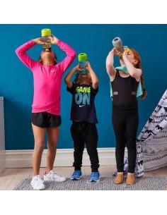 Sportowa butelka tritanowa z ustnikiem 450 ml Lemon Sherbet, b.box
