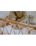 Kocyk bambusowy z kapturkiem 90x90 light beige, Memi
