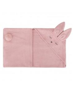 Ręcznik Bambusowy Króliczek Pudrowy Róż 80x80cm, Samiboo