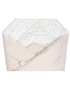 Rożek niemowlęcy beżowe kropki/ paski, Bolo