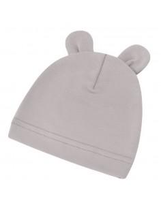 Bambusowa czapeczka dla niemowlaka szara z uszami 0-3 miesięce, Samiboo