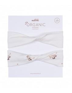 Opaska Twist Organic Gęsi 2pak 56cm, Malomi