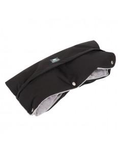 Mufka do wózka z kieszonką czarna ze srebrnym SUPREME, Samiboo