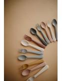 Sztućce dla dzieci do nauki samodzielnego jedzenia Sage, Mushie