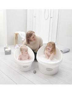 Wanienka Shnuggle Toddler dla starszaka z piankowym oparciem White and Grey, Shnuggle