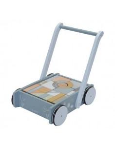 Wózek z klockami Błękit Ocean +12 m-cy, Little Dutch