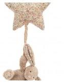 Pozytywka króliczek blossom bea beżowy z gwiazdką, Jellycat