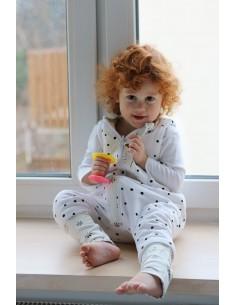 Dwustronny Śpiworek z Nóżkami Bloom/ Czarne Kropki (3-4 lata), Sleepee
