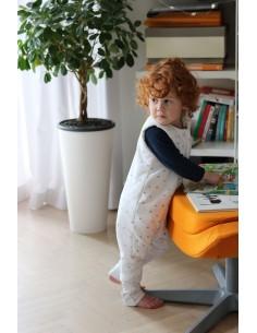 Dwustronny Śpiworek z Nóżkami Szare Kropki/ Czarne Kropki (1-2 lata), Sleepee