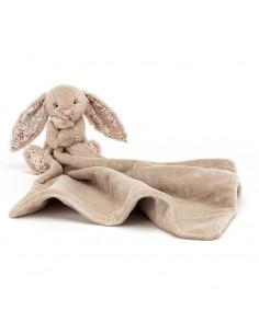 Kocyk przytulanka z króliczkiem blossom bea beżowy, Jellycat