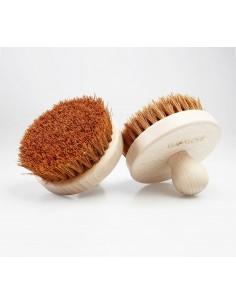 Ostra, okrągła szczotka do szczotkowania ciała - kokos