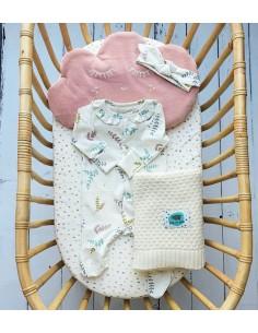 Opaska niemowlęca Gałązki 0-6 miesięcy, Pink No More