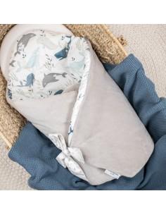 Rożek niemowlęcy ocieplany Ocean, Colorstories