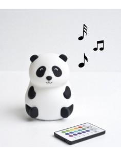 Lampka silikonowa Panda z głośniczkiem, Rabbit and Friends