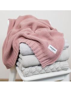 Kocyk S tkany CottonClassic 75x90 Brudny Róż, Colorstories
