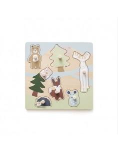 Puzzle Drewniane Edvin +12 m-cy, Kids Concept