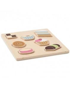 Puzzle Drewniane Bistro Ciasteczka +12 m-cy, Kids Concept
