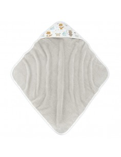 Ręcznik bawełniany niemowlaka Woodland Beżowy, Colorstories
