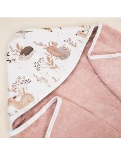 Ręcznik Bawełniany Przedszkolaka Forest Friends Pudrowy Róż, Colorstories