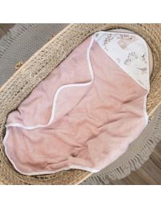 Ręcznik bawełniany niemowlaka Forest Friends Pudrowy Róż, Colorstories