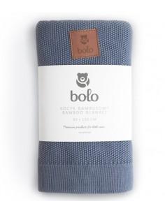 Kocyk bambusowy 80×100 Niebieski, Bolo
